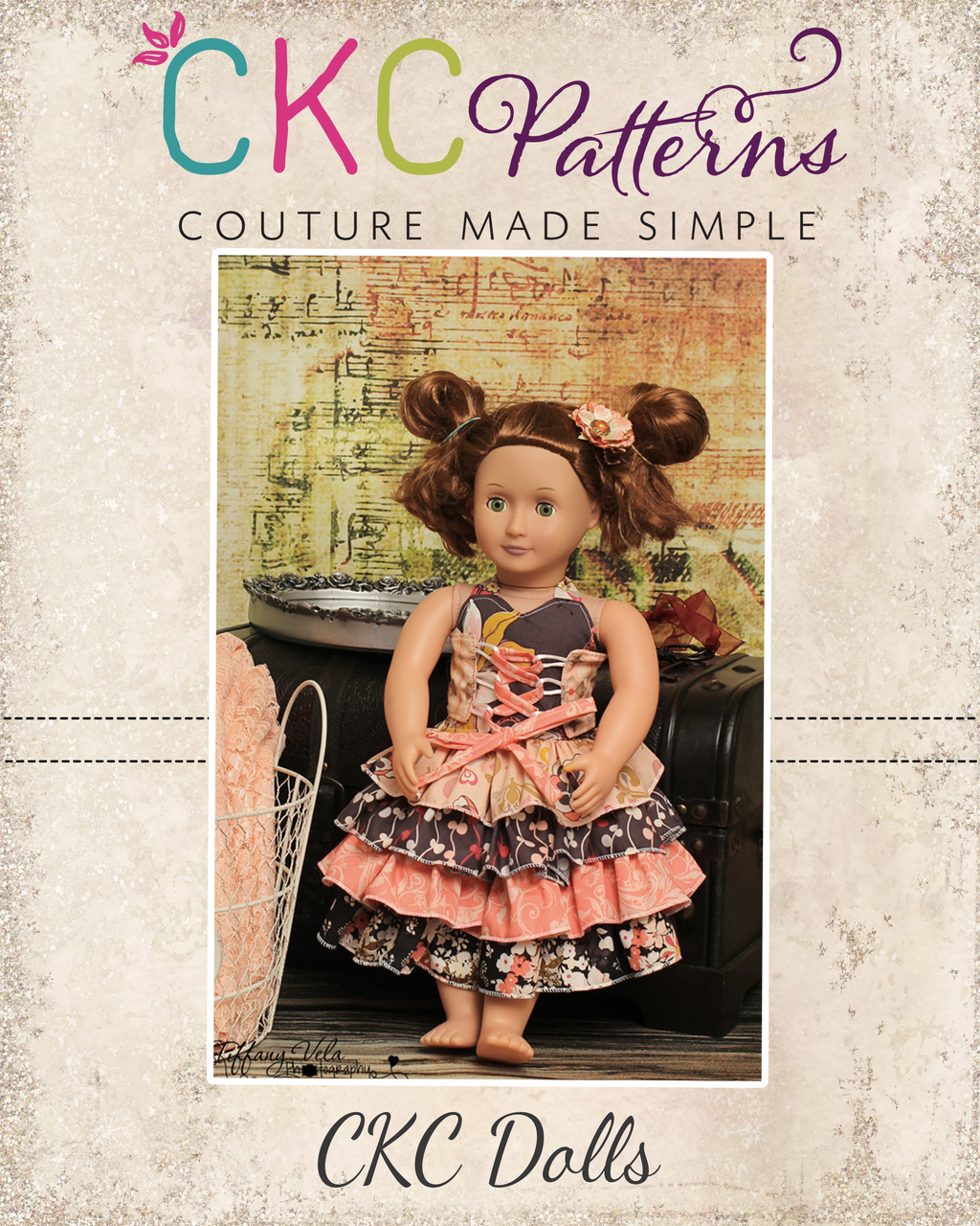 "18"" Doll pattern pack 1 with 5 PDF Patterns"