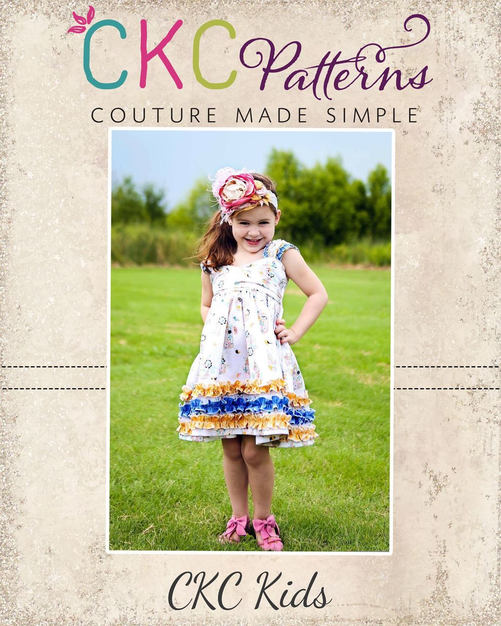 Xin's Extraordinary Ruffle Dress Sizes NB to 14 Kids PDF Pattern