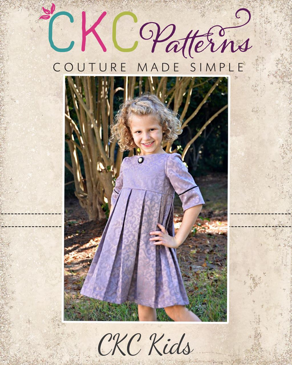 Pepper's Pleated Vintage Dress Sizes 2T to 14 Kids PDF Pattern