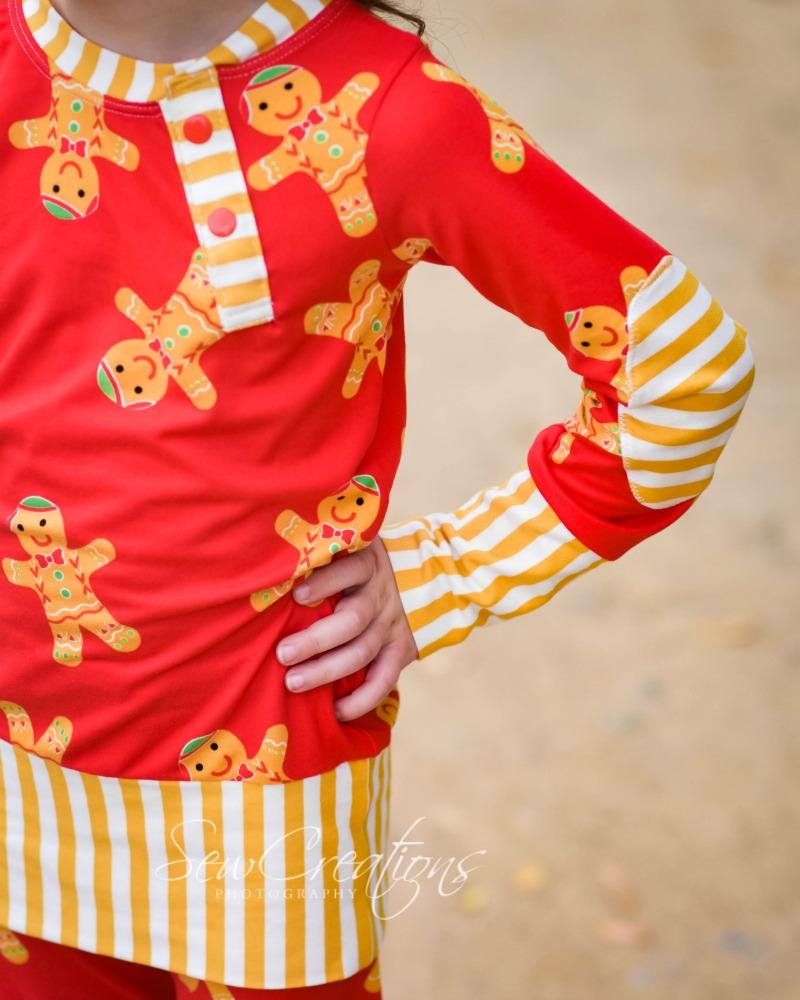 Aries' Two-Piece Knit Pajamas Sizes 2T to 14 Kids PDF Pattern