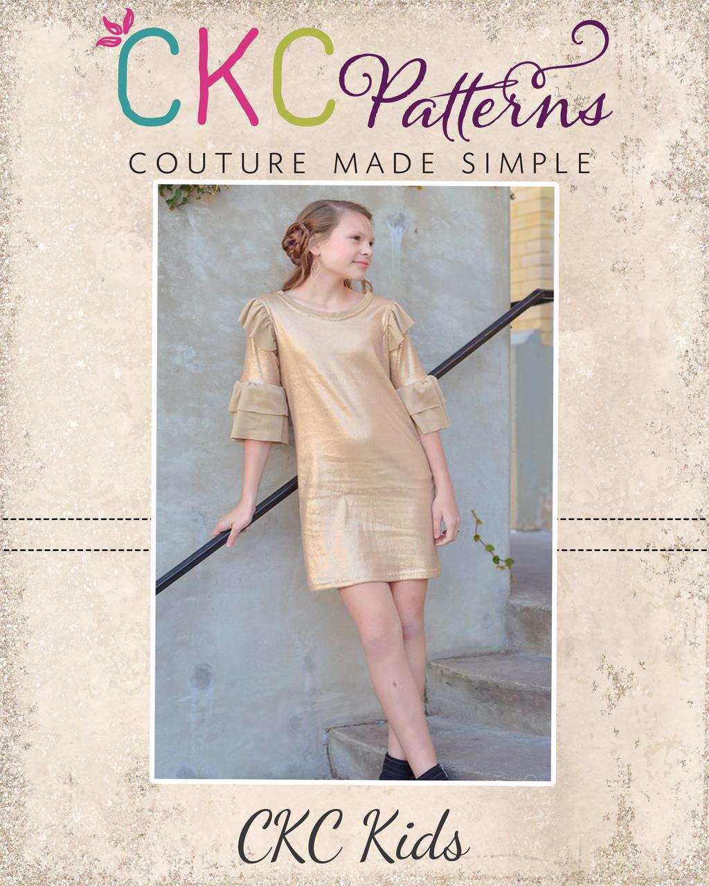 Nelda's Knit Dress and Top Sizes 2T to 14 Kids PDF Pattern