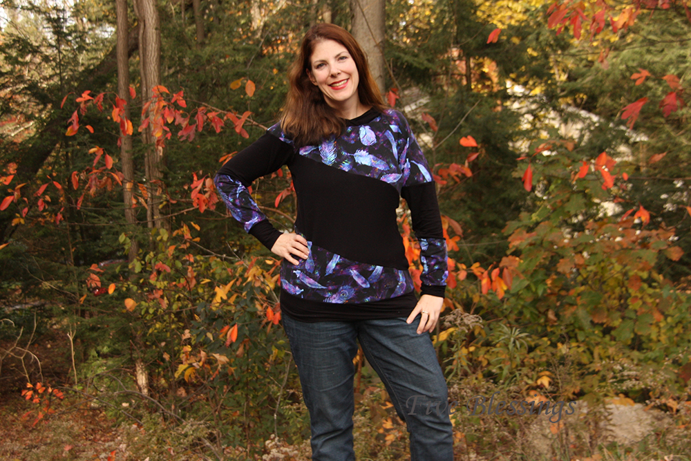 Zita's Color Block Raglan Sizes XXS to 3X Adults PDF Pattern