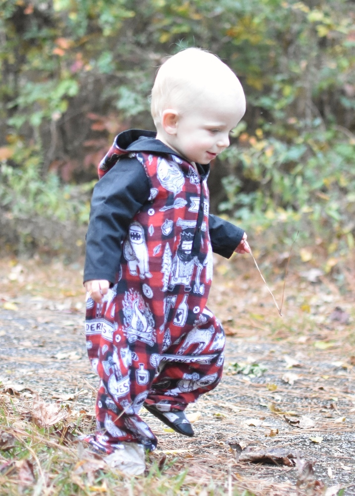 Lincoln's Hooded Woven Romper Sizes NB to 18/24m Babies PDF Pattern