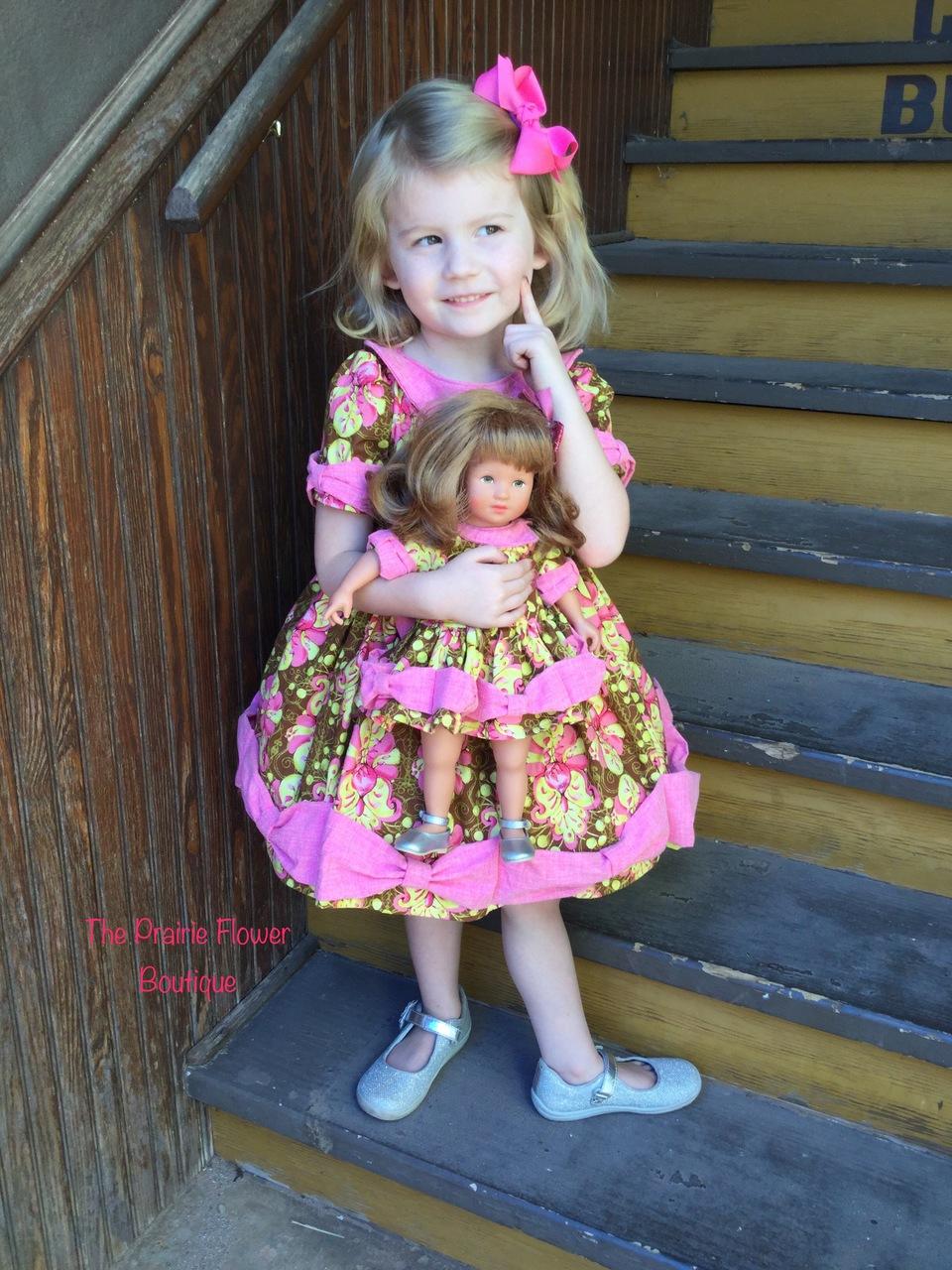 Maylee's Bow Hem Dress Doll Sizes PDF Pattern