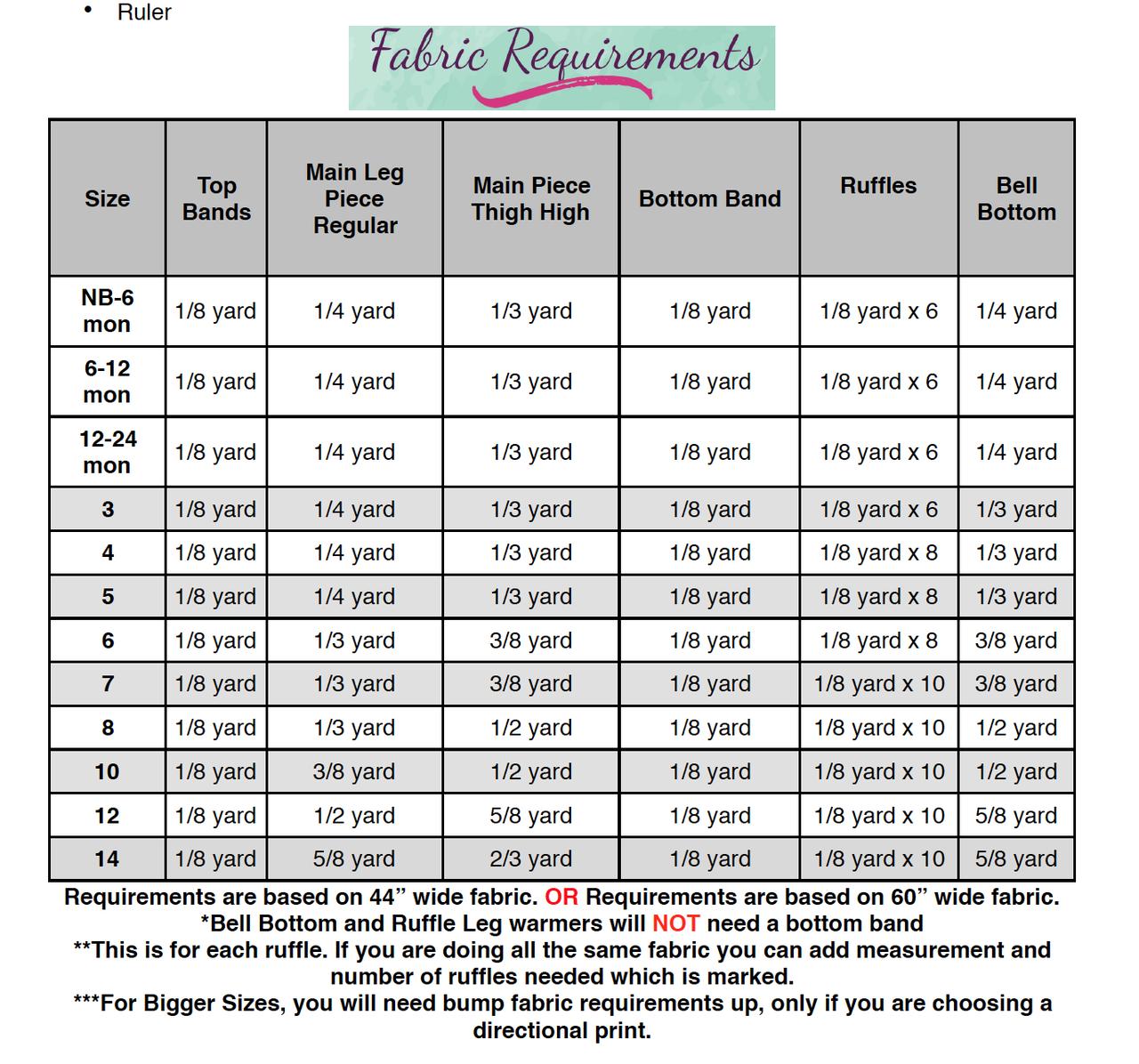 Lydia's Leg Warmers Sizes NB to 14 Kids PDF Pattern