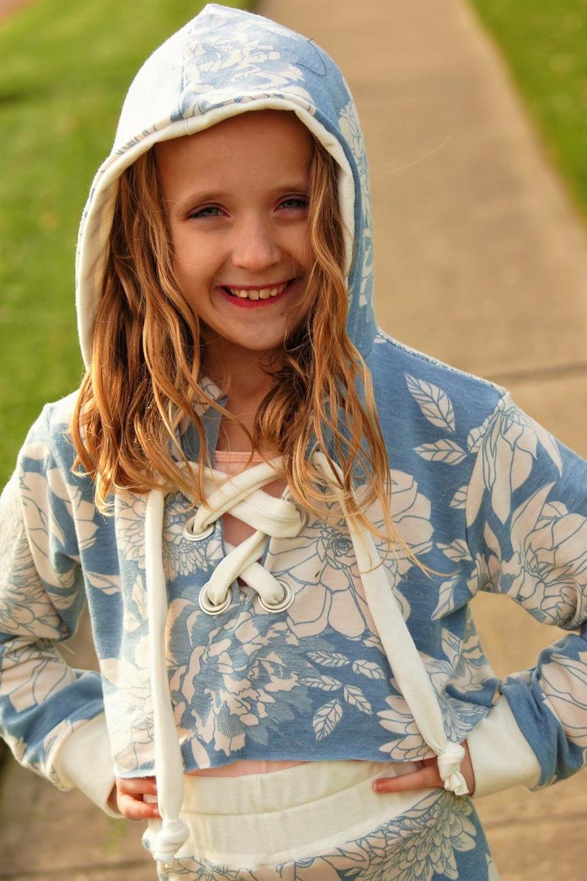 Iggy's Cropped Hoodie Sizes 2T to 14 Kids PDF Pattern