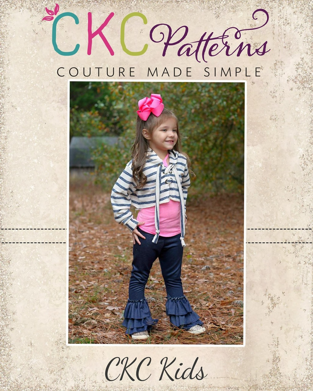 Iggy's Cropped Hoodie Sizes 2T to 14 Kids PDF Pattern
