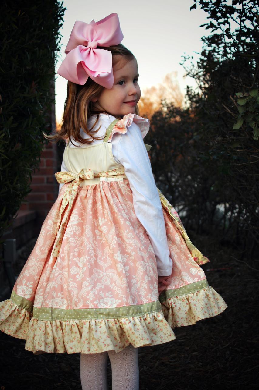Amorette's Lovely Knot Dress Sizes NB to 14 Kids and Dolls PDF Pattern