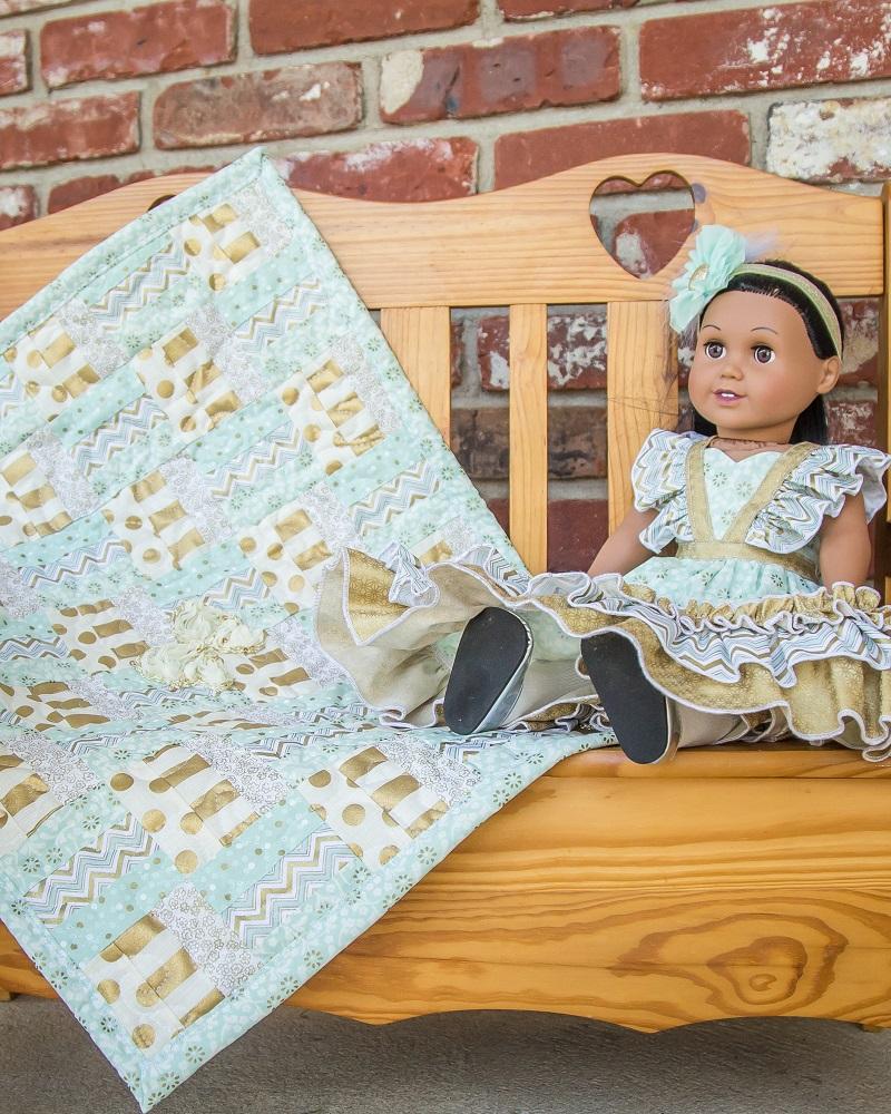 Rhea's Rail Fence Quilt Top Doll Sizes PDF Pattern