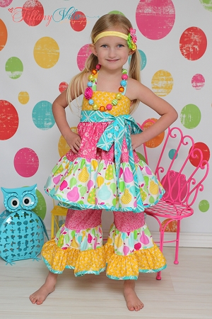 Paired with Brianna's Tiered Ruffle Capris