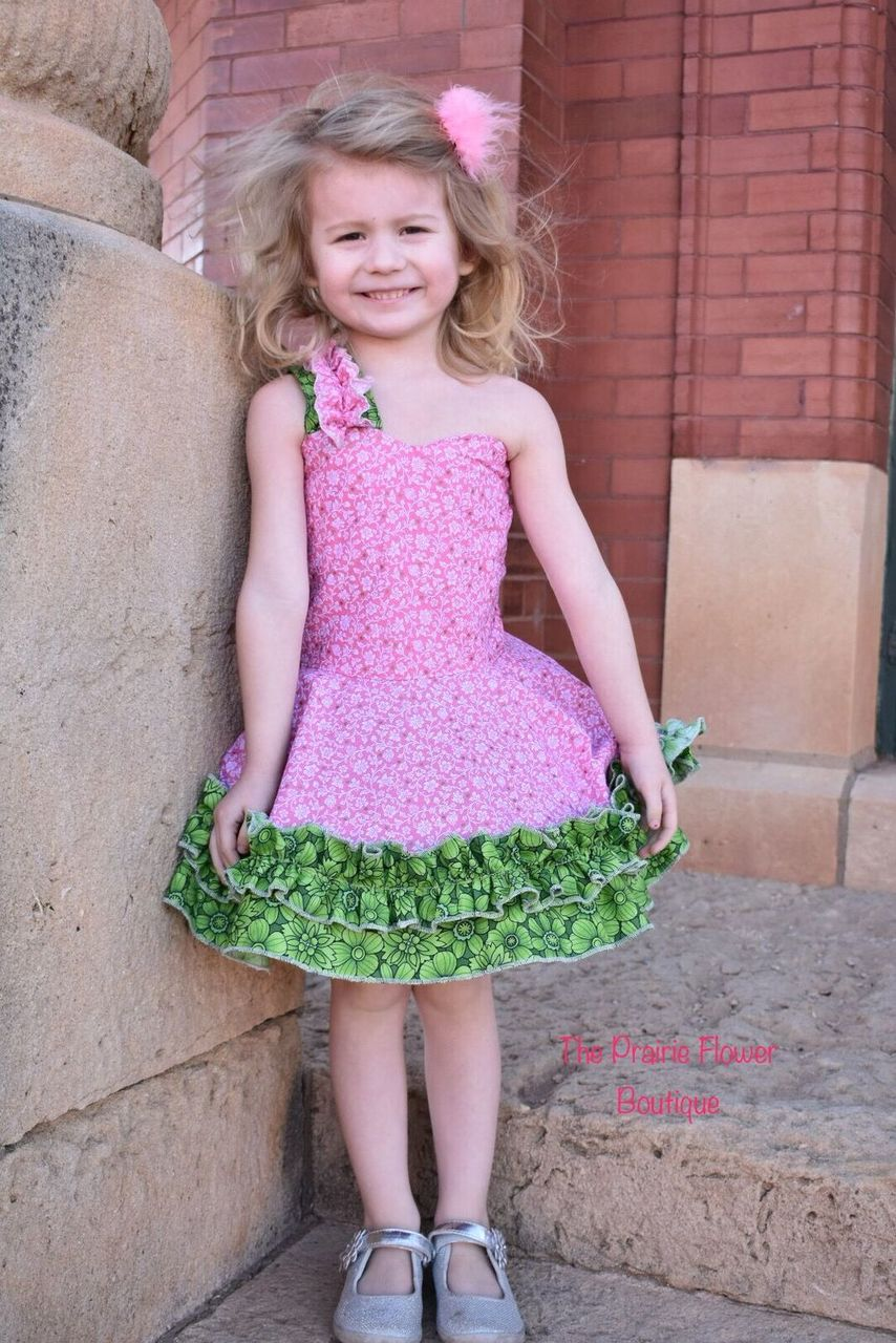 Hyacinth's Spring Dress and Romper Sizes Newborn to 14 Kids and Dolls PDF Pattern