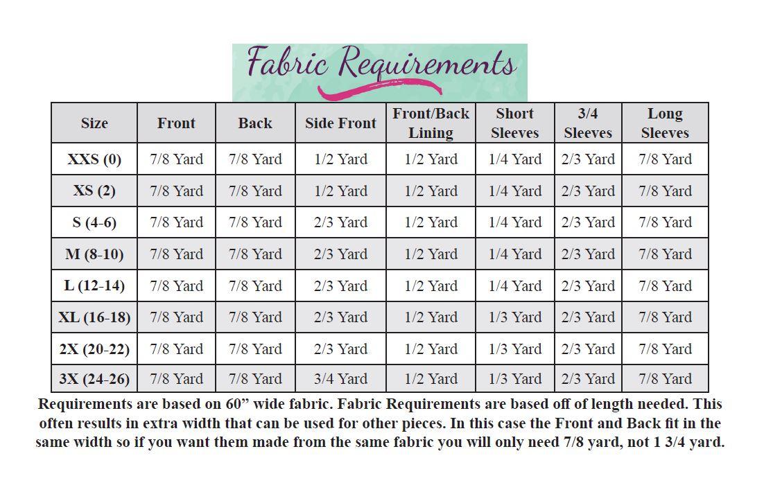 Aszy's Asymmetrical Shirt Sizes XXS to 3X Adults PDF Pattern