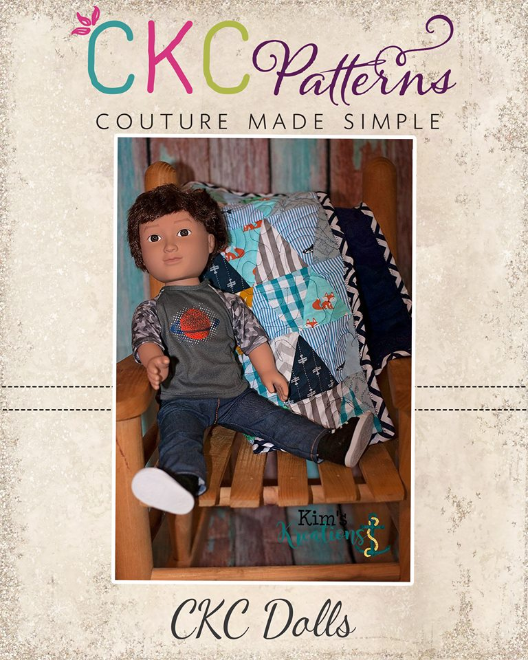 Tracey's Triangle Quilt Doll Sizes PDF Pattern