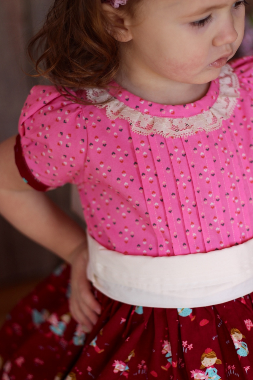 Frances' Pleated Dress Sizes NB to 8 Kids PDF Pattern