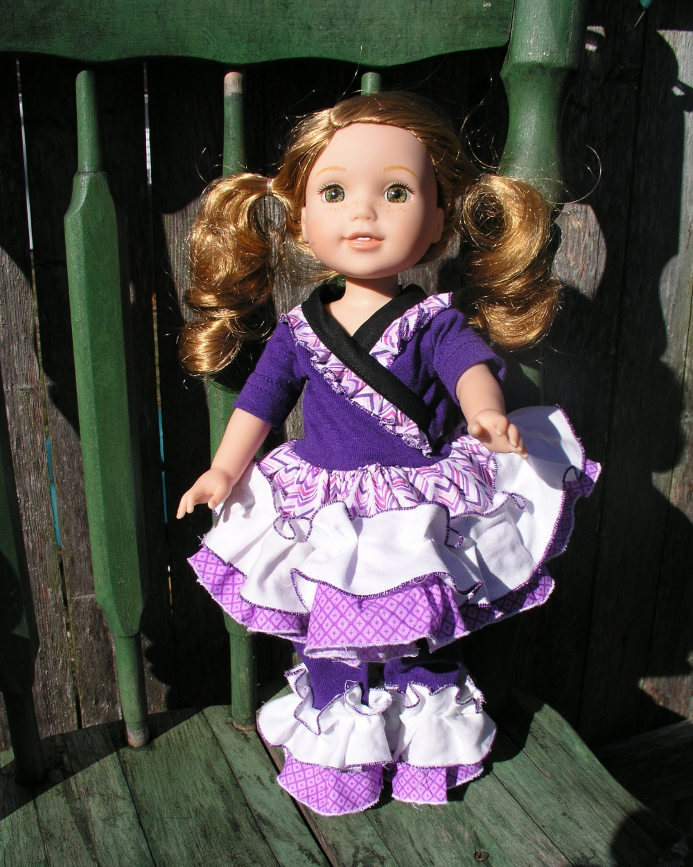 Adorabella's Crossover Dress, Tunic, and Ruffle Pants Doll Sizes  PDF Pattern