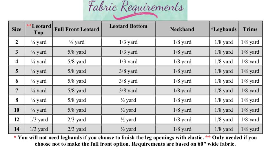 Qiana's Keyhole Leotard Sizes 2T to 14 Kids PDF Pattern