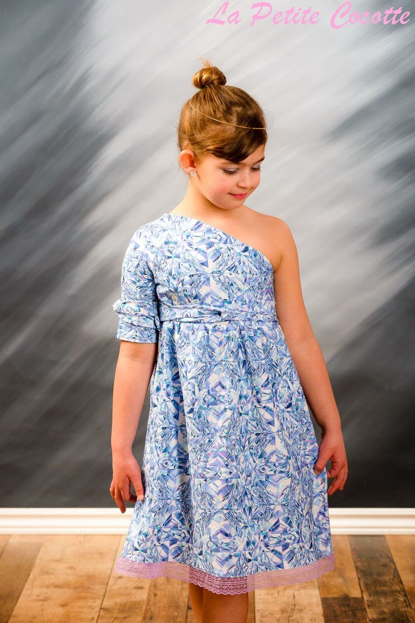 Winlee's One Shoulder Dress Sizes 2T to 14 Kids PDF Pattern