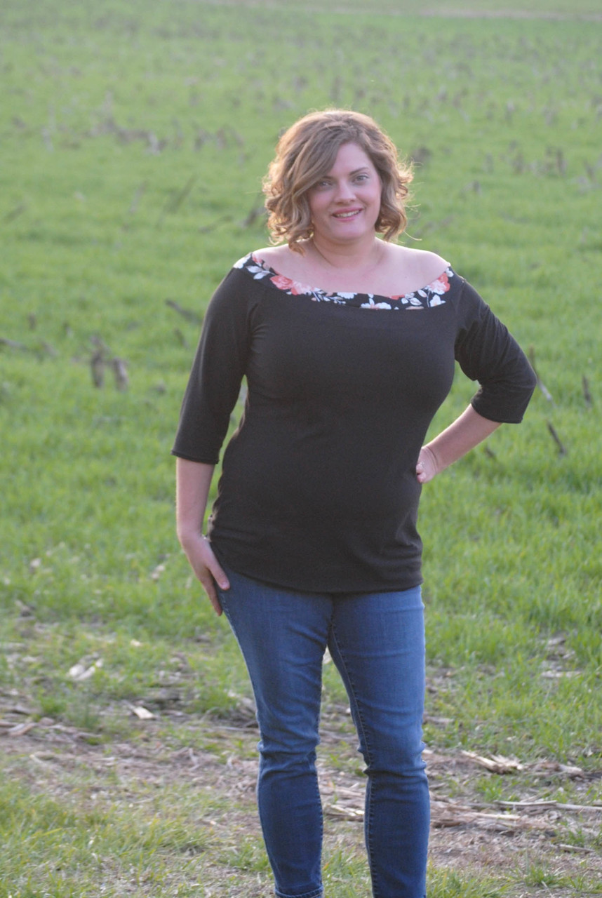 Andrea's Off The Shoulder Top and Dress Sizes XXS to 3X Adults PDF Pattern