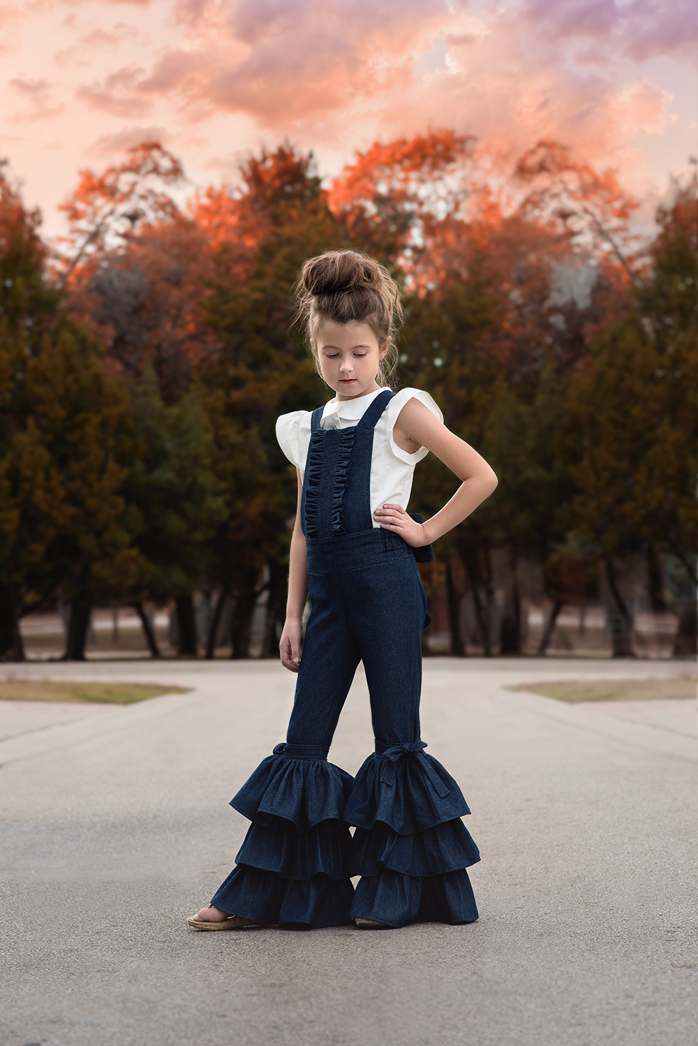 Ripley's Ruffled Overalls Sizes 2T to 14 Kids PDF Pattern