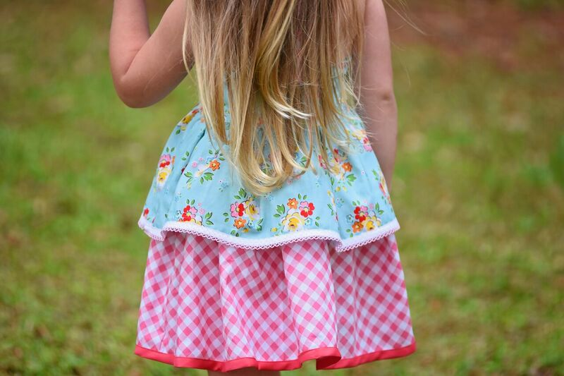 Daisy's Petal Collar Dress, Top & Romper Sizes NB to 14 Kids and Doll PDF Pattern