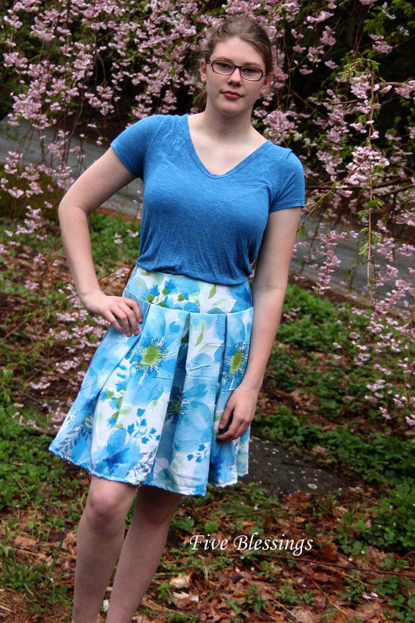 Pauline's Pleated Skirt Sizes XXS to 4X Adults PDF Pattern