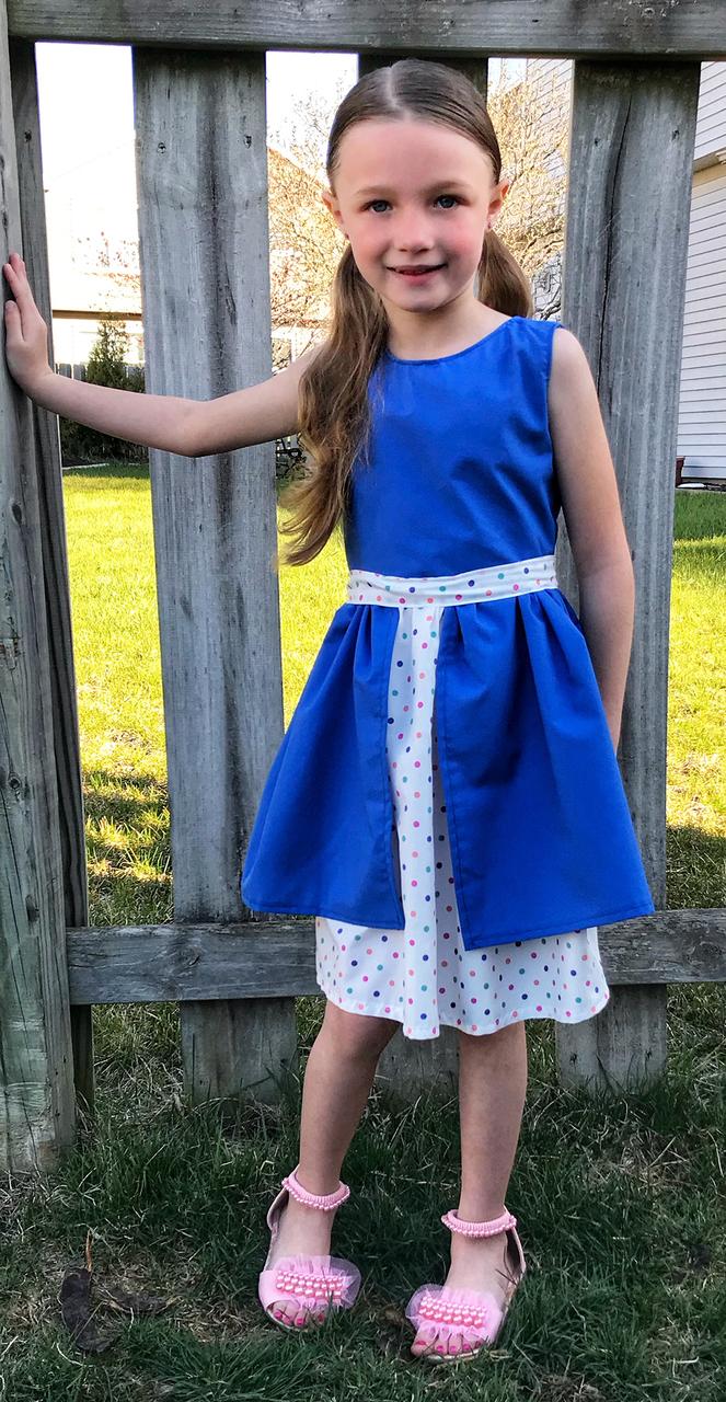 Lillian's Little Split Skirt Dress Sizes 2T to 14 Kids PDF Pattern