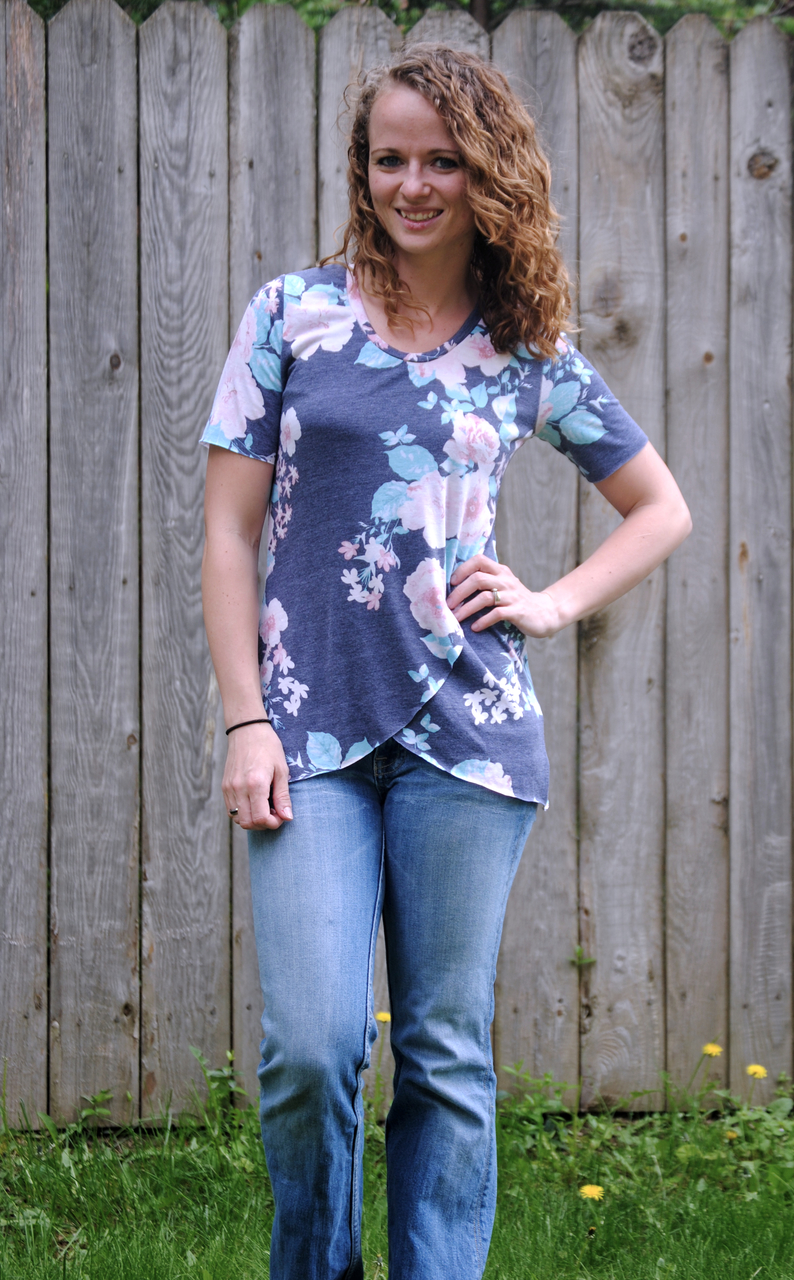 Chelsea's Crossover Hem Top Sizes XXS to 3X Adults PDF Pattern