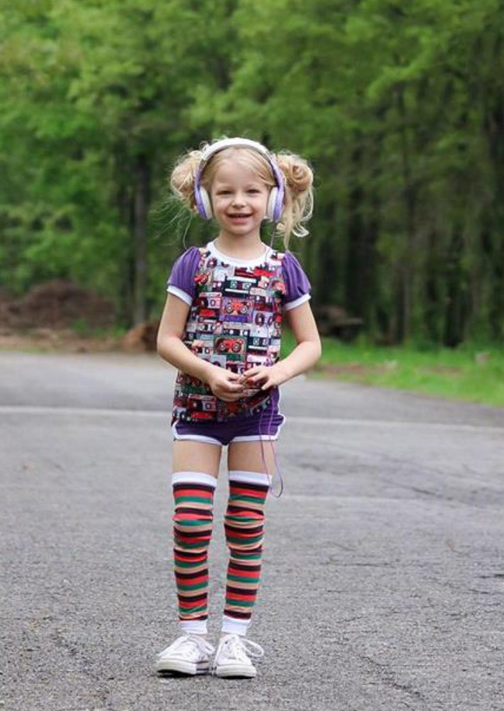 Panelyn's Ruched Ringer T-Shirt and Circle Skort Sizes 2T to 14 Kids PDF Pattern