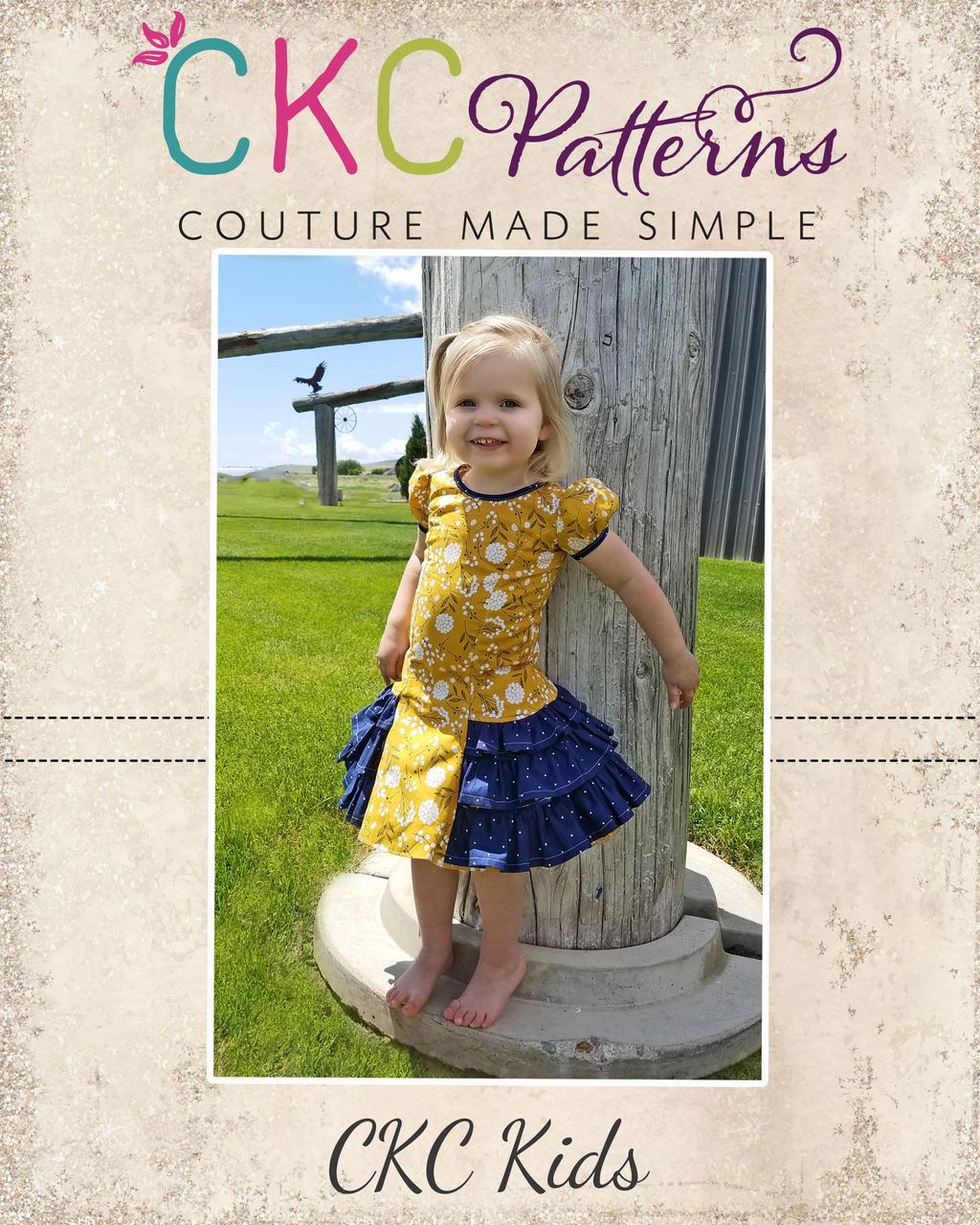 Suri's Sassy Dress Sizes 2T to 14 Kids PDF Pattern