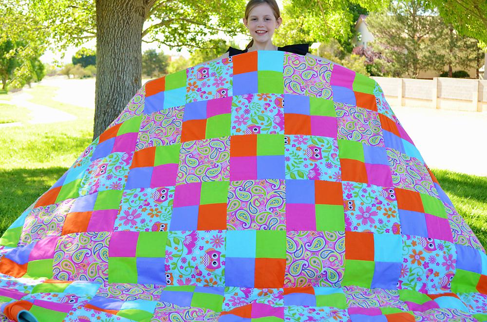 Suze's Four Patch Quilt PDF Pattern