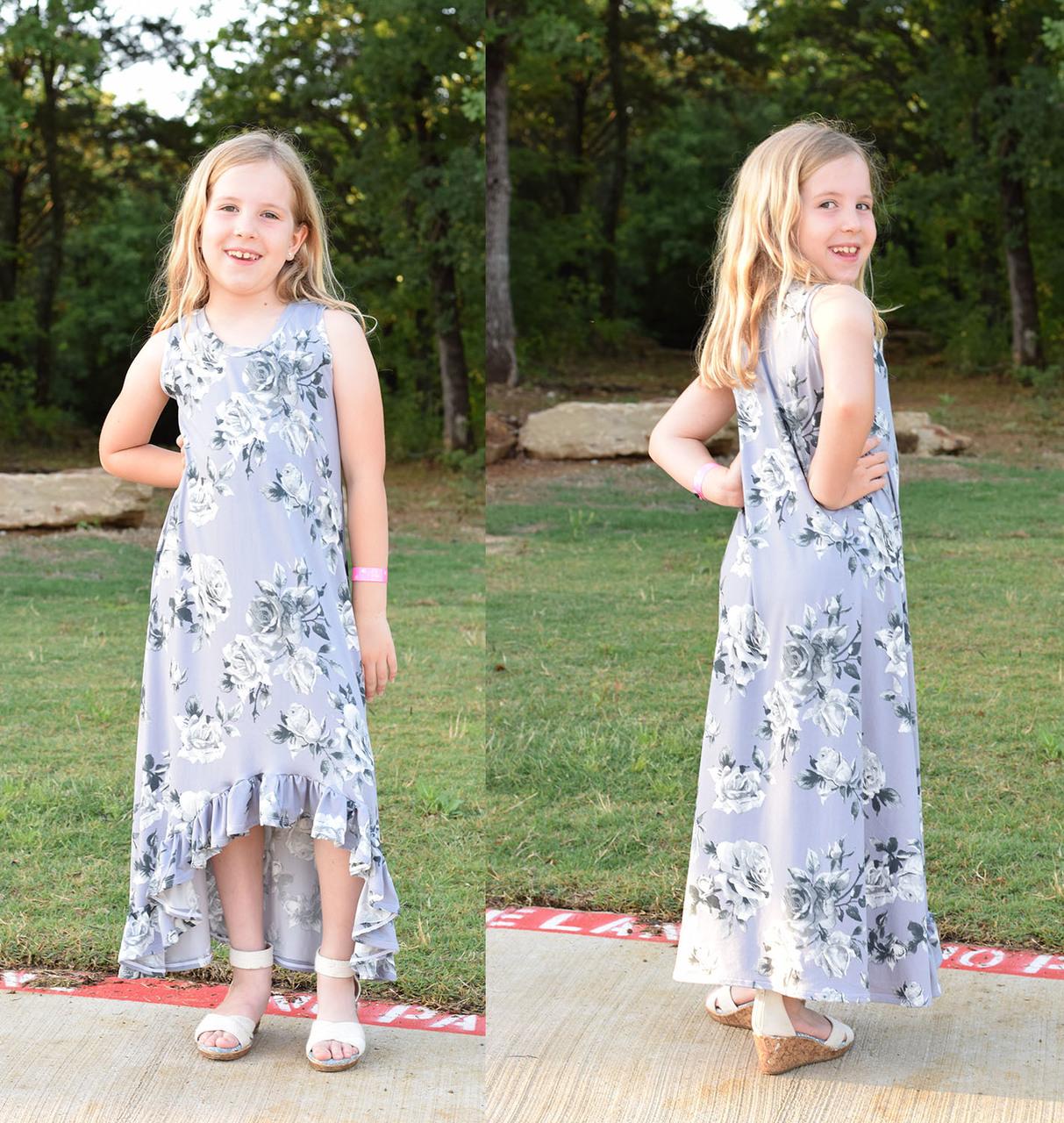 Holland's High-Low Dress Sizes 2T to 14 Kids PDF Pattern
