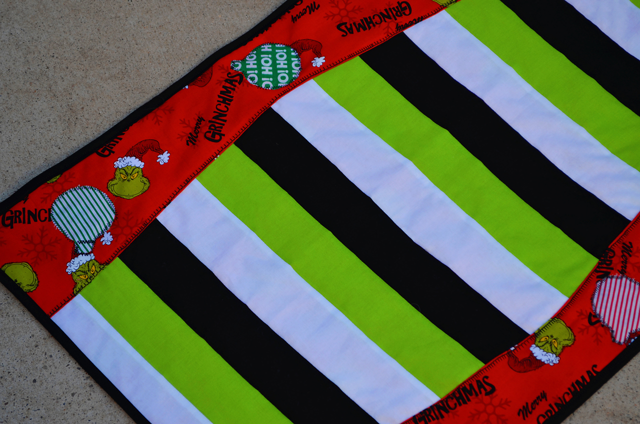 Quibblers Quilt-As-You-Go Table Runner PDF Pattern