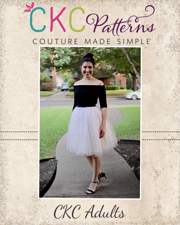 Lavender's Lavish Formal Skirt Sizes XXS to 3X Adults PDF Pattern