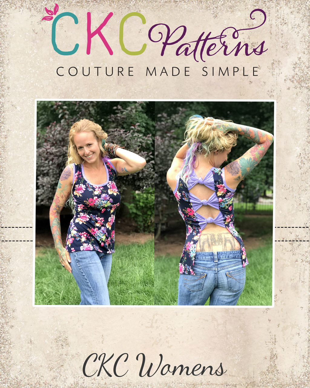 Freedom's Bow Tank Top Sizes XXS to 3X Adults PDF Pattern