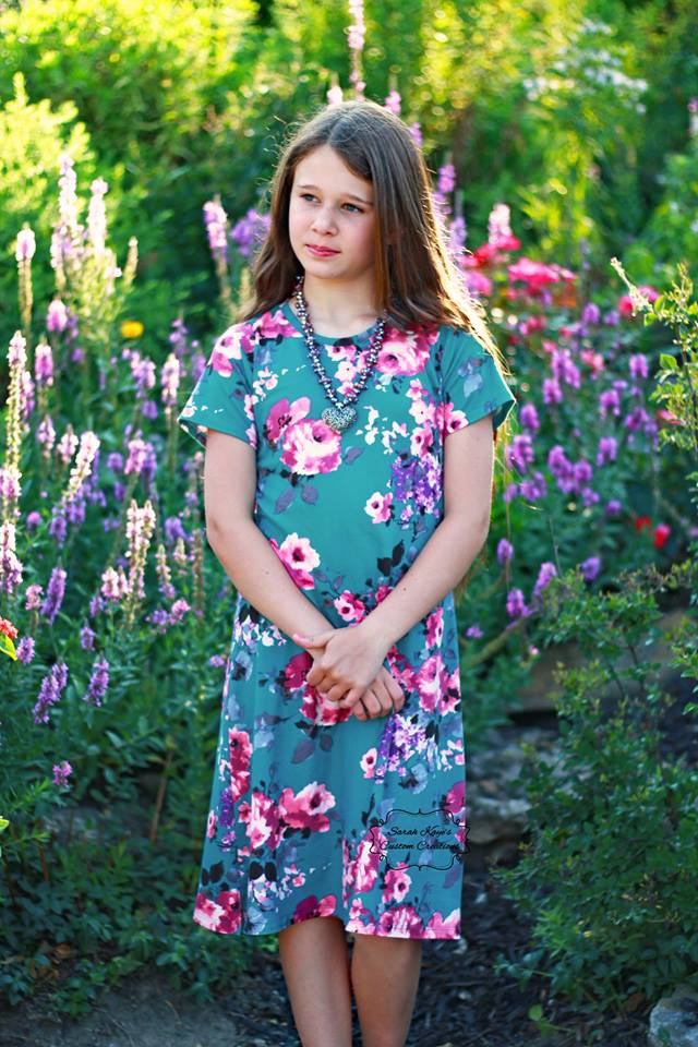 Chanel's Classic Fitted T-Shirt, Tunic, Dress, and Maxi Sizes 2T to 14 Kids PDF Pattern