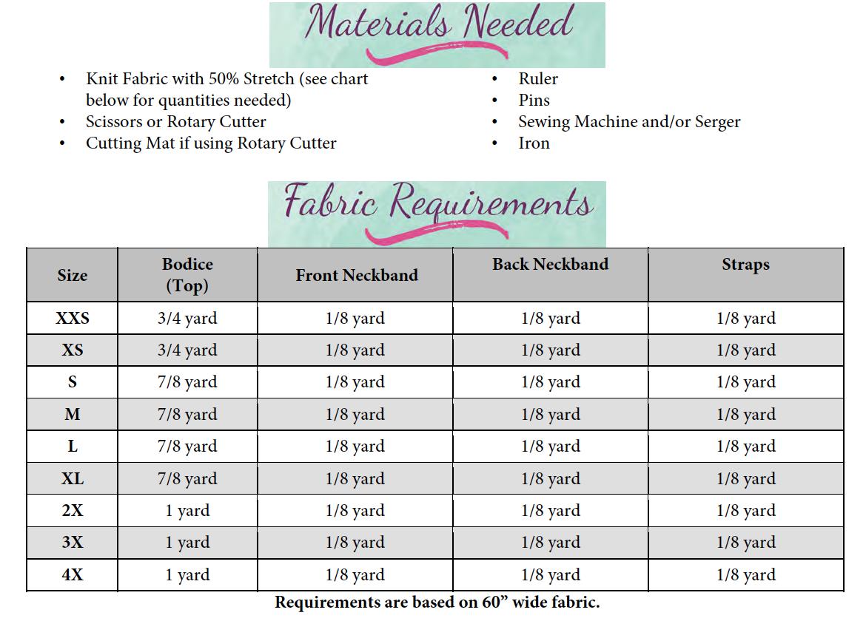 Kendal's Tank Top Sizes XXS to 4X Adults PDF Pattern