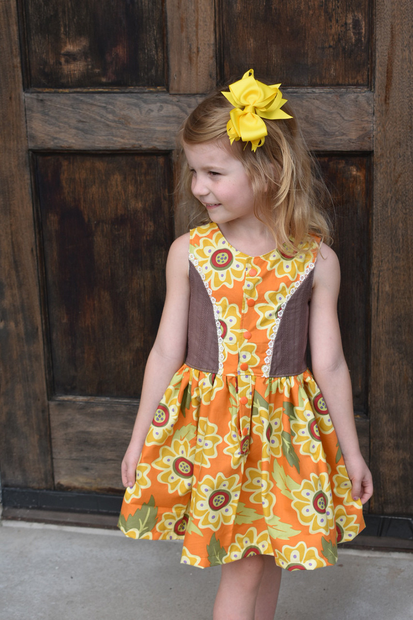 Birdie's Sunday Brunch Dress Sizes 2T to 14 Kids PDF Pattern