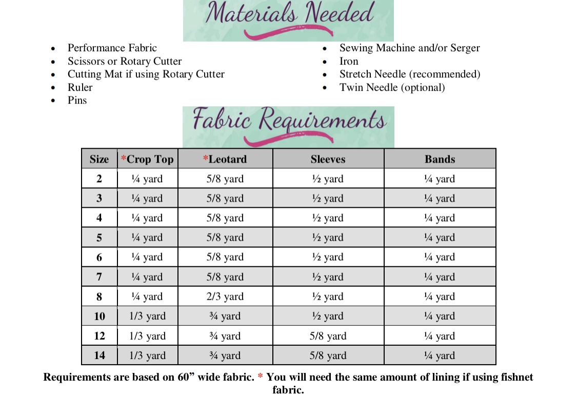 Romy's Radical Dancewear Sizes 2T to 14 Kids PDF Pattern