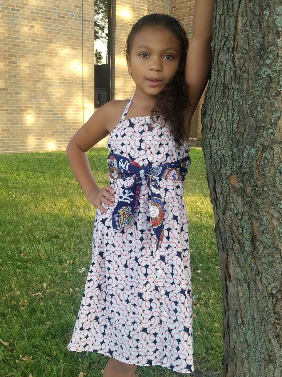 Gidget's Retro Dress Sizes 2T to 14 Kids PDF Pattern