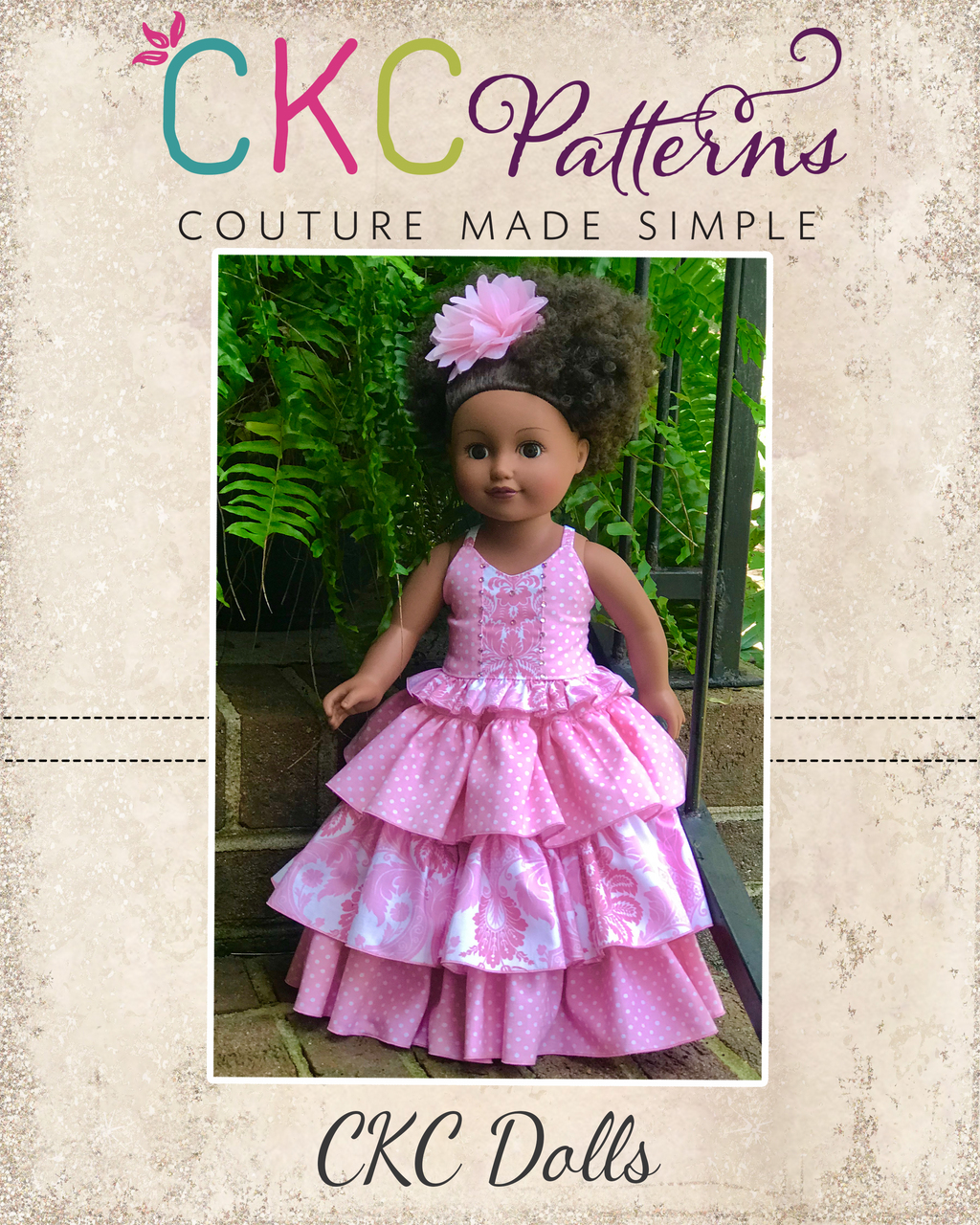 Genne's and Maddie's Party Set Doll Sizes PDF Pattern