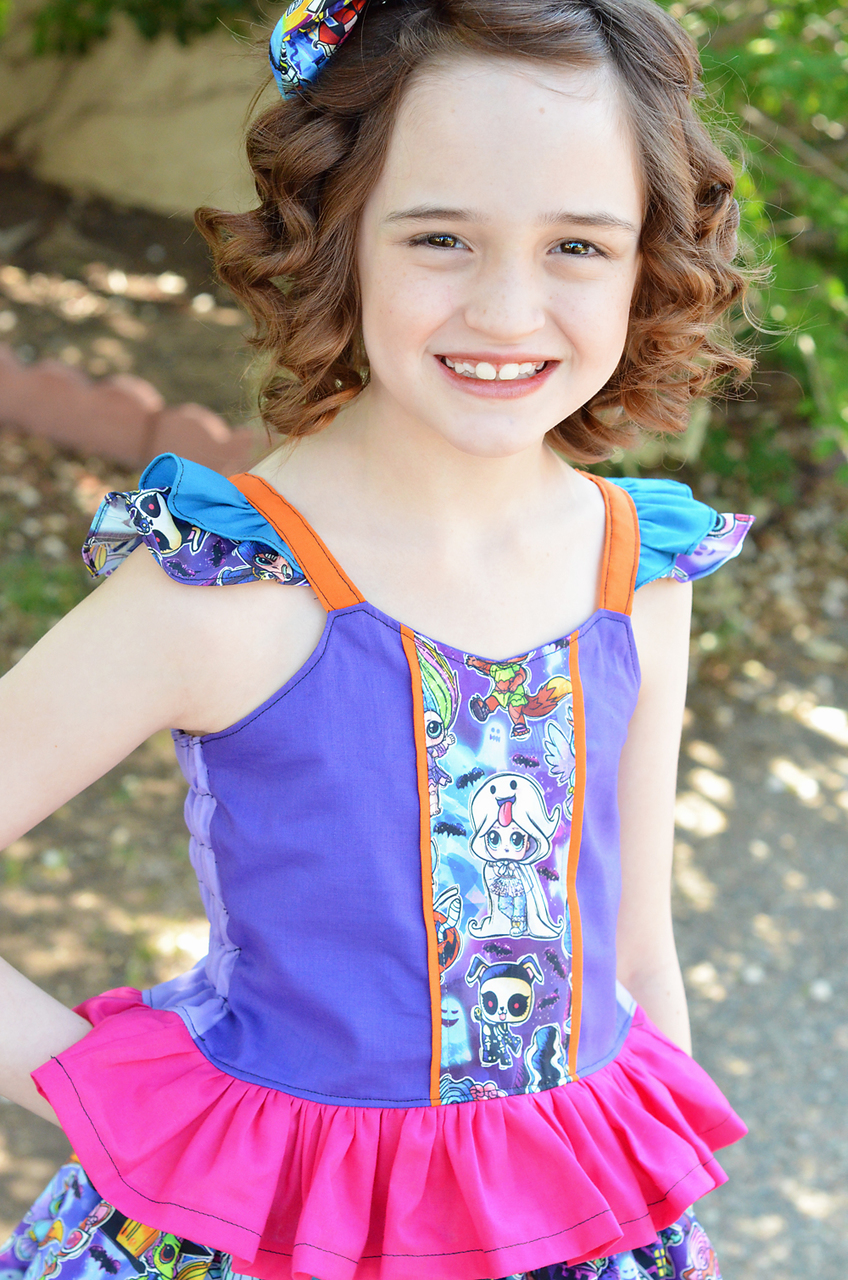 Maddie's Double Flutter Panel Top Sizes 2T to 14 Kids PDF Pattern