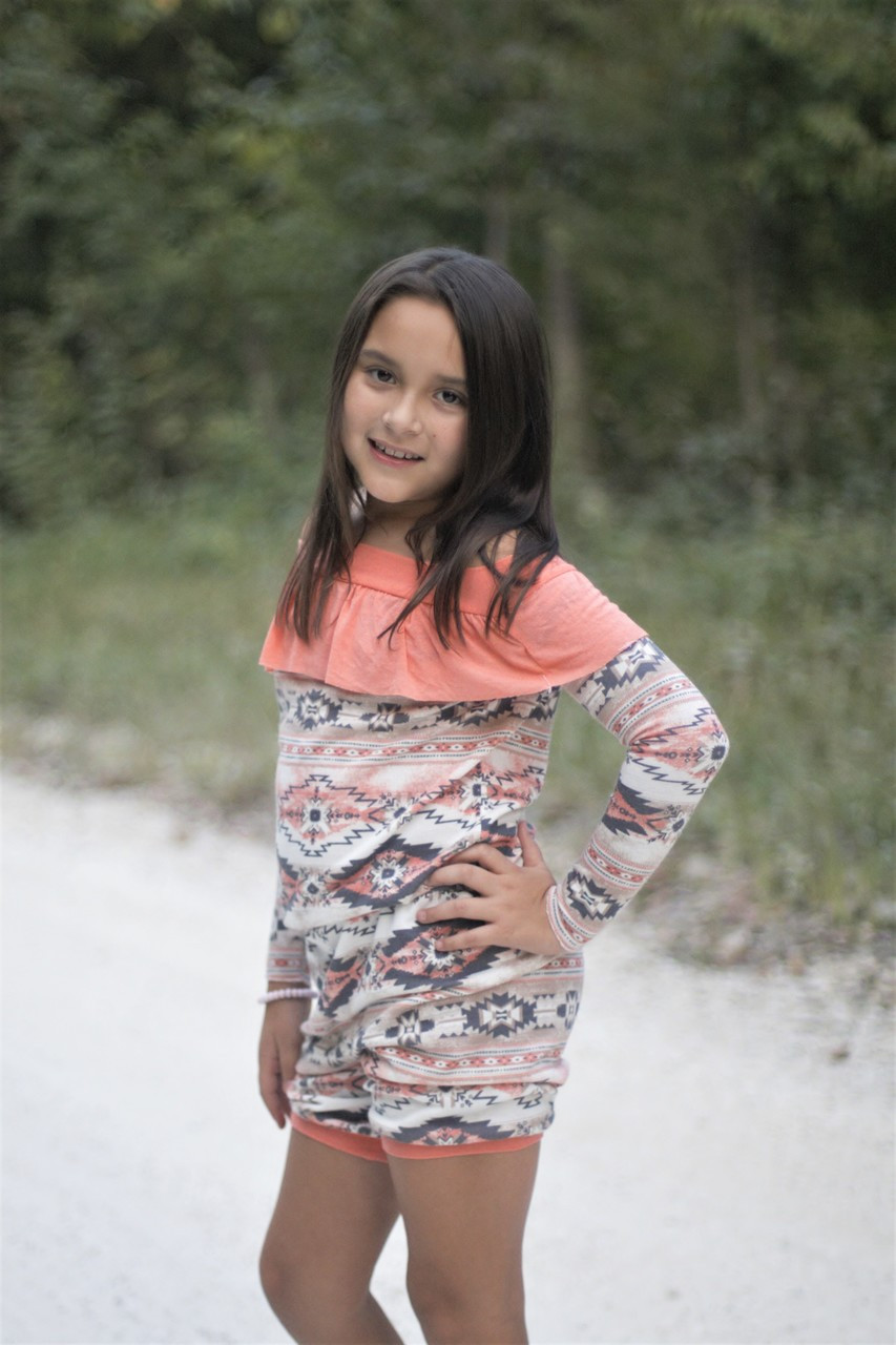 October's Knit Romper Sizes 2T to 14 Kids PDF Pattern