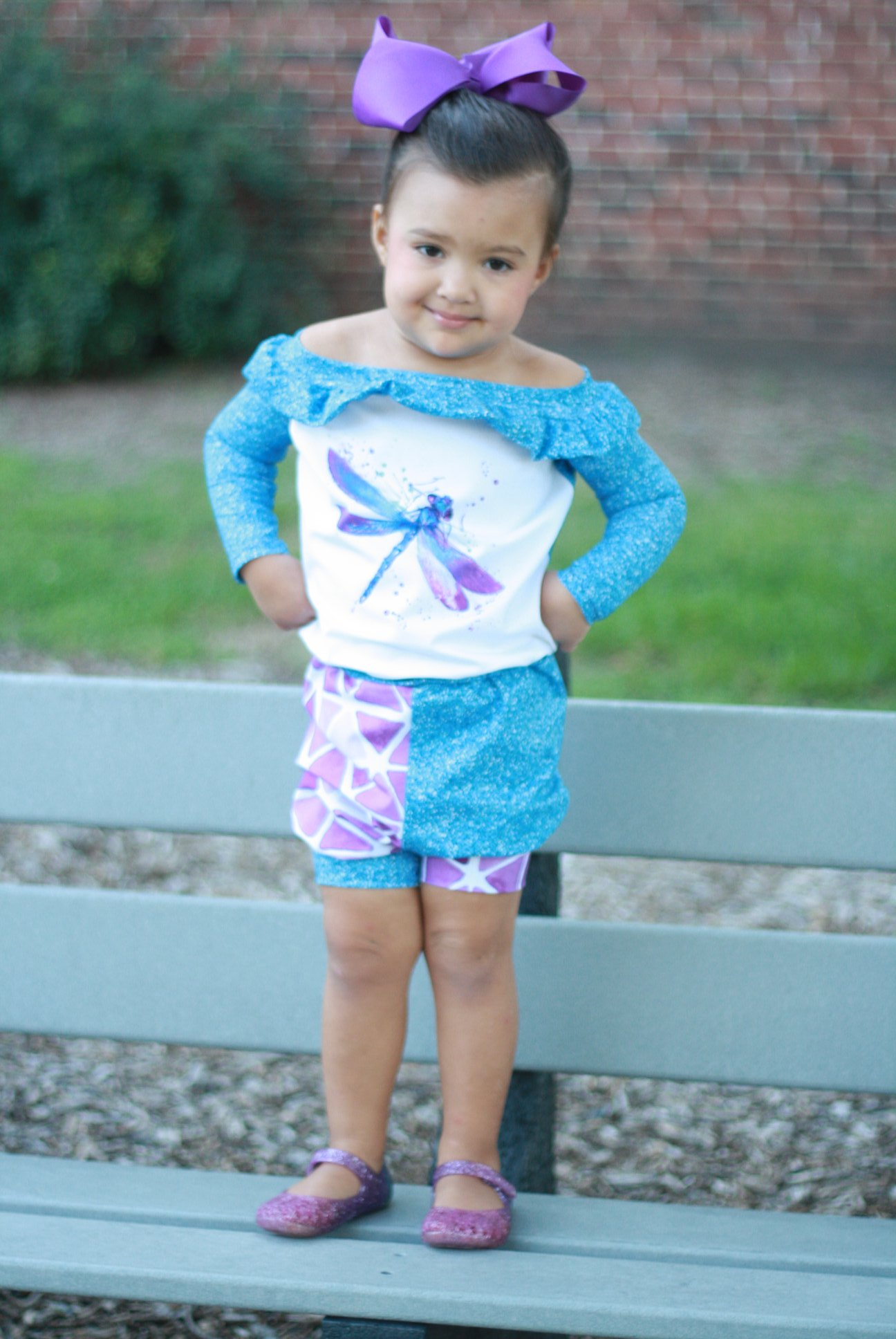 October's Knit Romper Sizes 2T to 14 Kids PDF Pattern