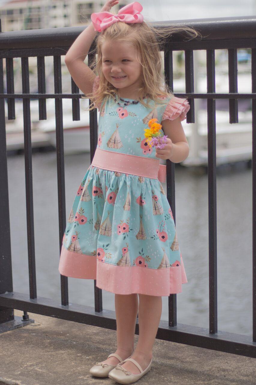 Jayne's Joyous Slip-on Dress and Peplum Sizes 2T to 14 Kids PDF Pattern