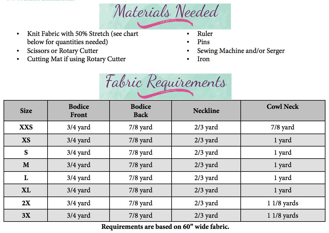 Miranda's Pullover Sizes XXS to 3X Adults PDF Pattern
