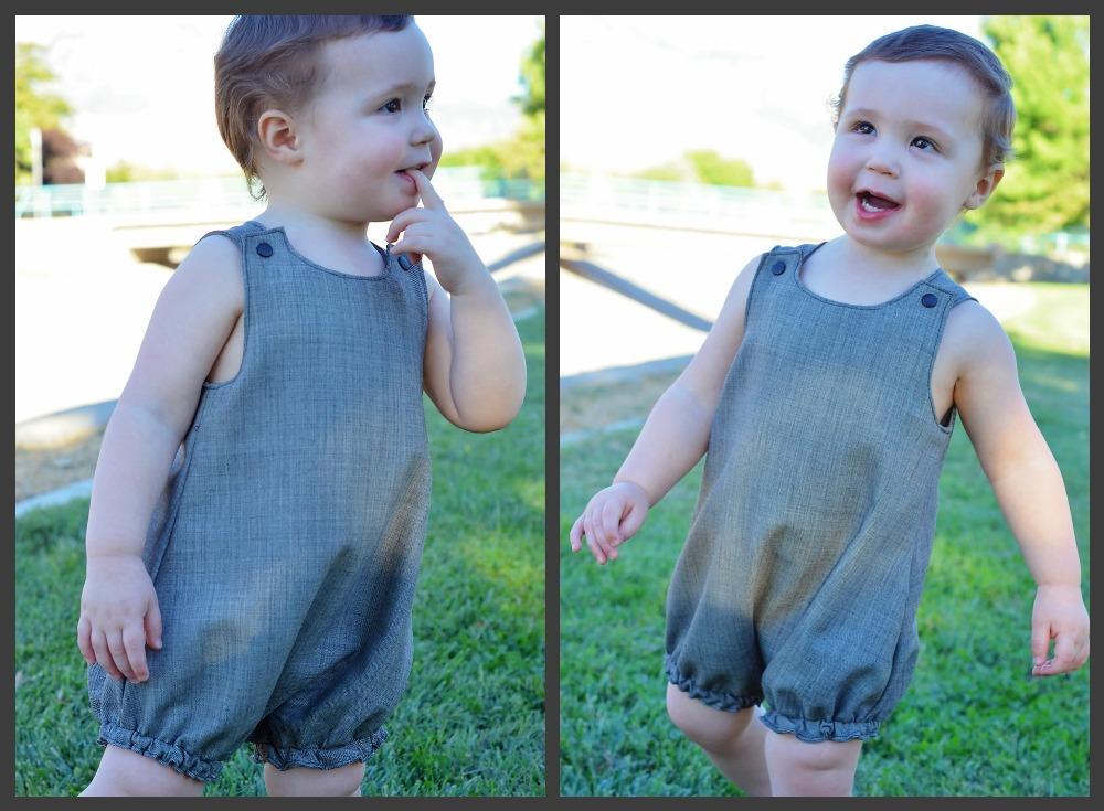 Huxley's Bubble Romper Sizes NB to 18/24m Babies PDF Pattern