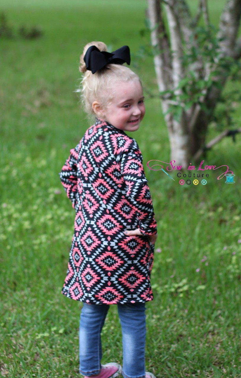 Calliope's Comfy Cardi Sizes 2T to 14 Kids PDF Pattern