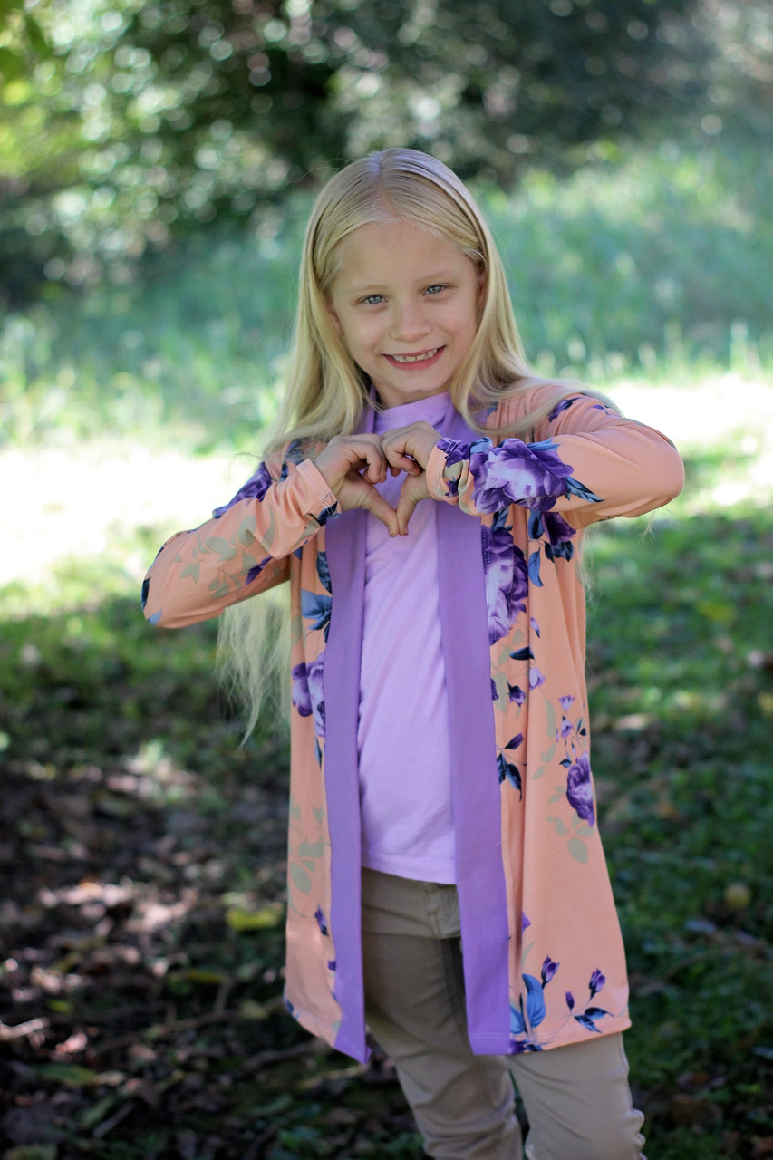 Calliope's Comfy Cardi Sizes 2T to 14 Kids PDF Pattern