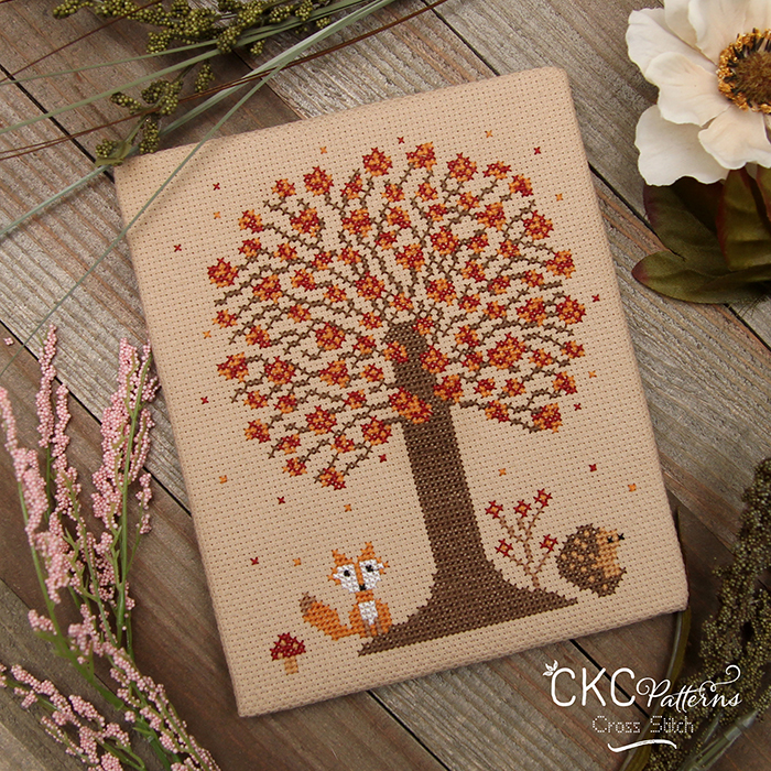 """4 Seasons """"Autumn"""" Cross Stitch PDF Pattern"""