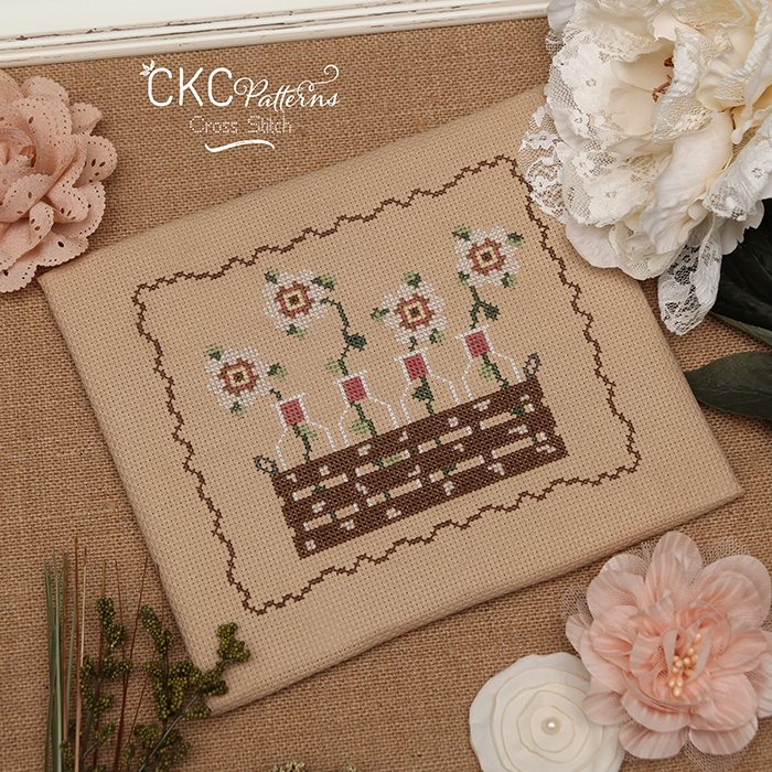 """Country Home """"Country Flowers"""" Cross Stitch PDF Pattern"""